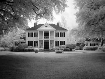 architecture black and white facade home